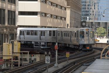 Chicago 'L' Metro Train