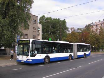 Trolleybus in Riga streets