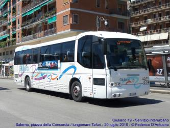 Interurban bus in Salerno