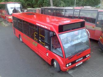 Sargeants Bros Bus and Red Seats