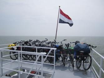 Bikes on Ferry Deck