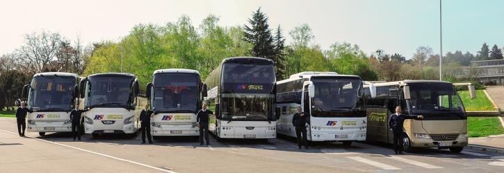 Fleet of buses