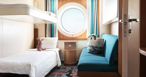 Family cabin on the Baltic Princess