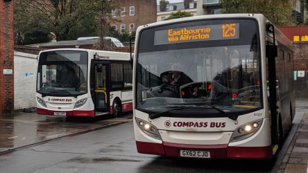 Two Compass Bus Enviro 200s