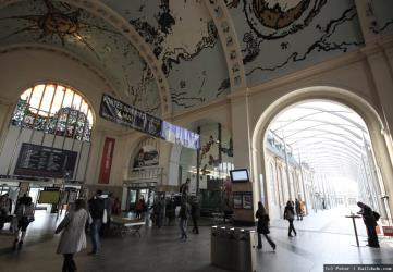 Luxembourg City Train Station interior