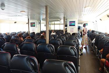 Interior of Catamaran Lomprayah