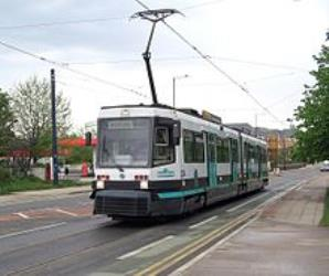 T-68A tram on the Eccles line