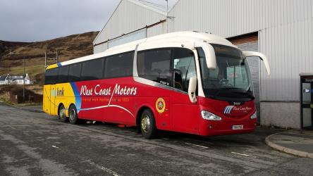 West Coast Motors bus side view