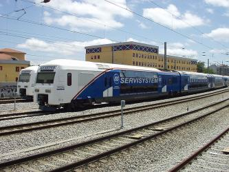 Fertagus train and carriages