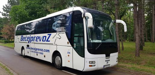 Man Lion bus front and side view