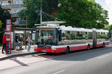 Prague articulated bus