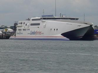 Exterior of Condor Ferries Catamaran