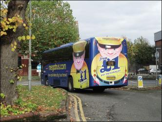 Megabus UK from behind