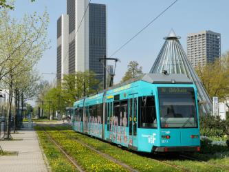 Tram at Frankfurt Messe