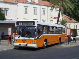 Libertas bus in Korčula
