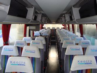 57 seater bus interior
