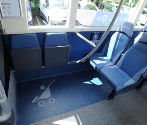 Arriva Sapphire bus with space for prams