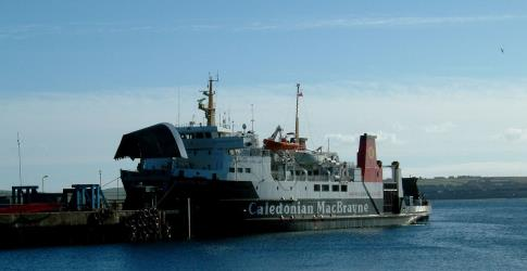 MV Hebridean Isles car ferry at Scrabster