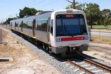 A Series train at Bassendean