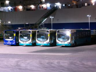 Fleet of Arriva buses