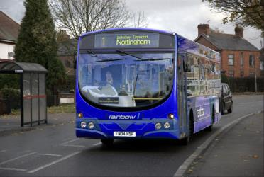 Trent Barton Blue Bus
