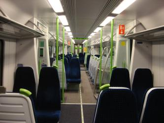 Interior of Heathrow Connect