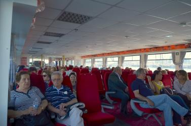 Interior of Bodrum Express ferry