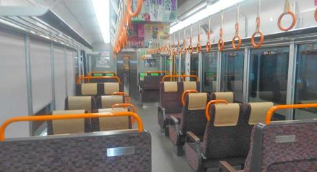 Sagano line train interior