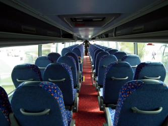 Interior of Megabus