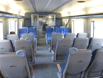 Västtrafik X50 train interior