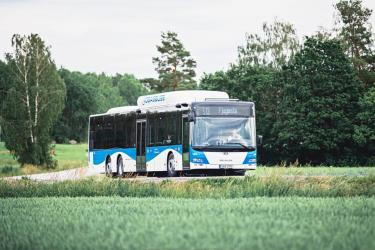 New blue and white buses in Örebro