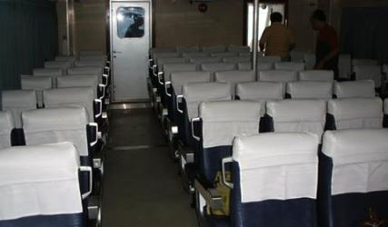 Interior of Lite Ferries