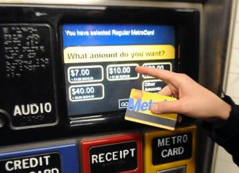 NYC MetroCard and Ticket Machine