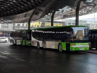 Buses in the new Verbund Linie colours