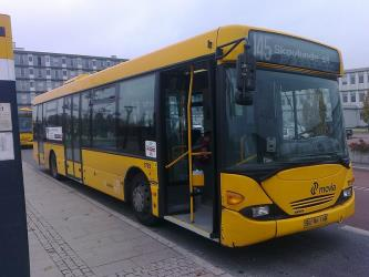 Movia bus front and side view