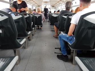 Interior of Alilaguna boat
