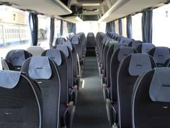 Interior of 53-seater MAN Lion's bus