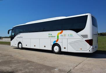 Setra 51 seater bus side view