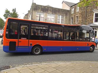 High Peak bus near Spring Gardens in Buxton