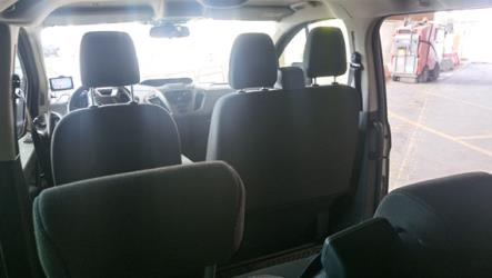 Mini-bus interior view
