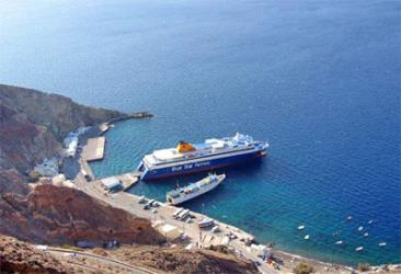 The port at Santorini