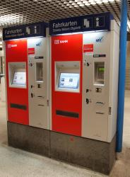DB Bahn ticket machine in Munich