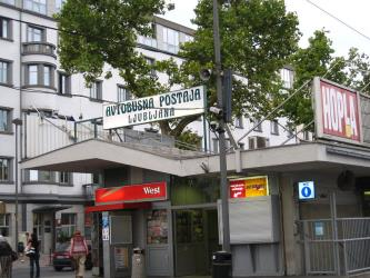 Ljubljana bus station entrance