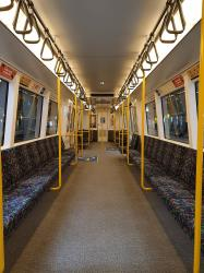 Interior of Transperth train