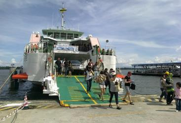 Ferry at a Port