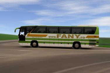 Fany bus side view