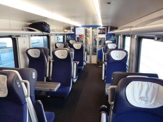 First class compartment intercity train