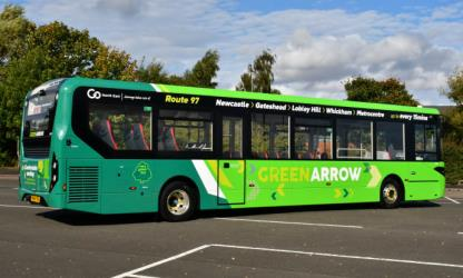 Environmentally friendly bus for Green Arrow service