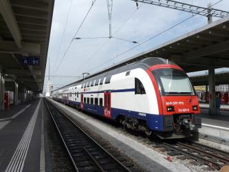 Train at Zurich station