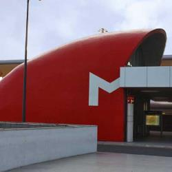 Distinctive entrance to the Metro at Lisbon airport